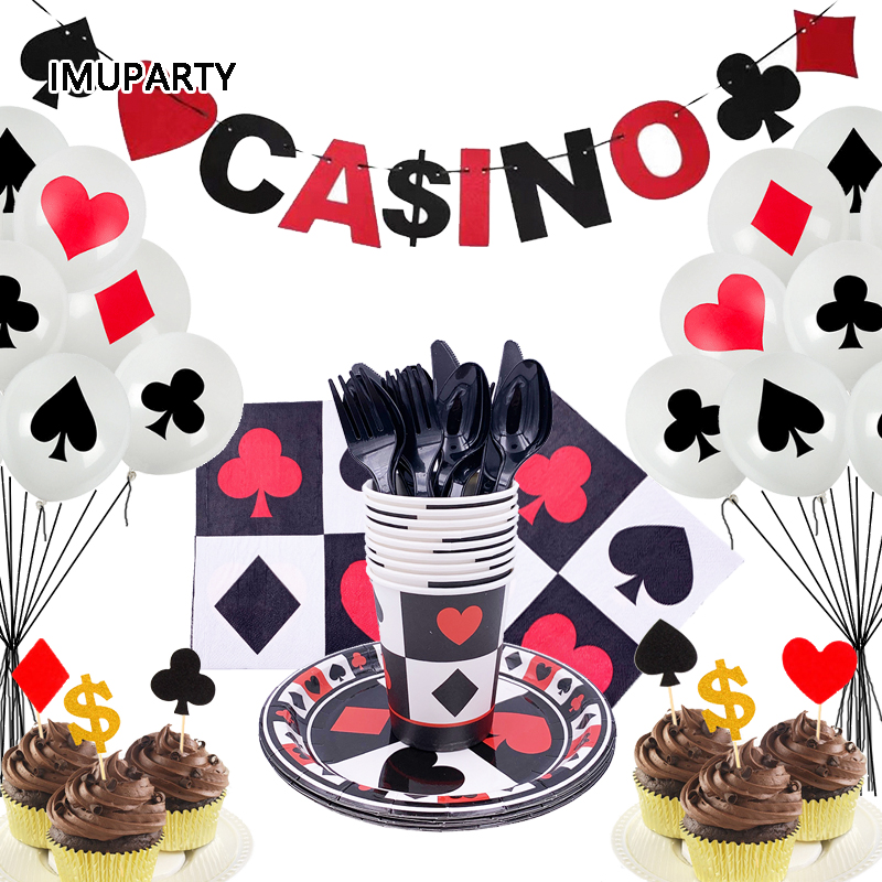 Excellent Las Vegas Casino Theme Party Decorations Disposable Tableware Set Personalised Birthday Cards Arneslily Jamesorg