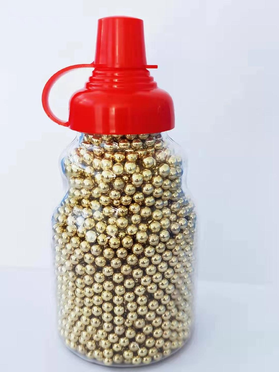 10bottlesX3000Qty 4.5mm Bbs .177 Carbon Steel Brass Plated Precision Balls  Bottle Package