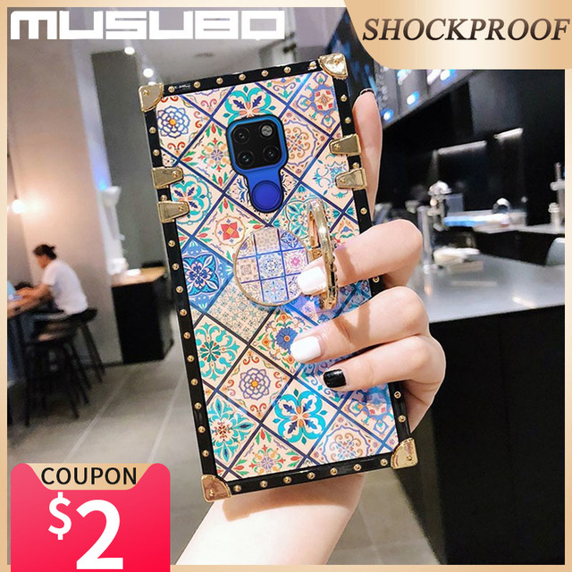 Musubo Luxury Case For Samsung Galaxy S20 Ultra S10 Plus S21 Square Back Cover Note 20 Ultra 10 Plus 9 Fundas Shockproof Coque