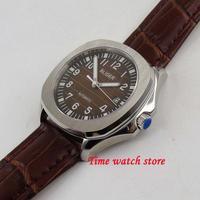 bliger 40mm watch men Luxury no logo Sunset dial sapphire glass square steel Bezel leather MIYOTA MINGZHU Automatic b218/219