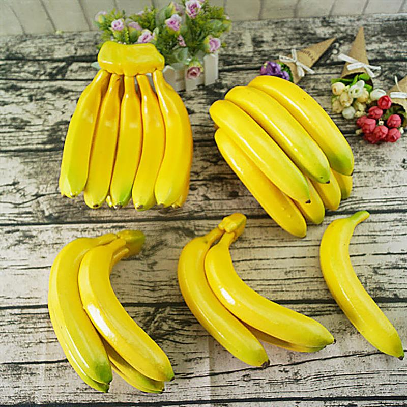 Artificial Banana Realistic Foam Artificial Fruit Fake Fruit Photography Props Home Decoration Supplies Dropshipping