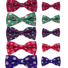 2Pcs/Set Parent-Child Christmas Bowties Christmas Bow Ties f