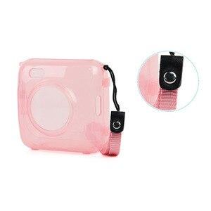 Image 5 - Fashion Transparent Blue Pink Bag Case for PAPERANG P1 Printer Photo Printer Camera Bag Travel Accessories