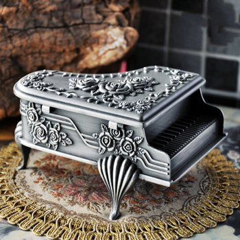 Piano Shape Storage Gift Zinc Alloy Vintage European Style