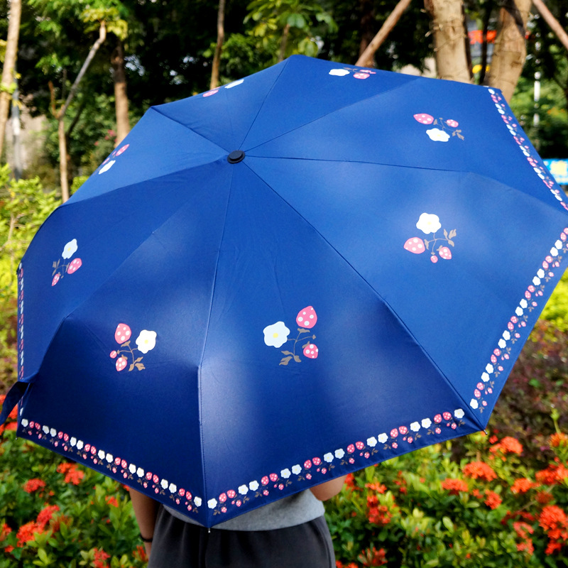 2019 Manufacturers New Style Currently Available Folding Parasol Hand Open Creative Hipster Pattern a Generation of Fat Umbrella