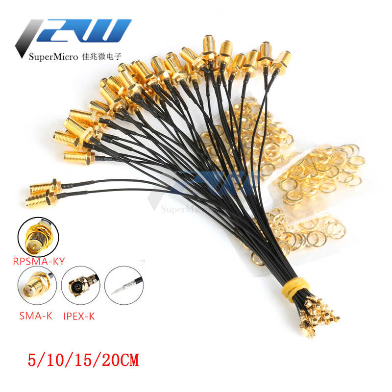 5 Pcs Sma Connector Kabel Vrouwelijke Ufl/U. Fl/Ipx/Ipex Rf Of Geen Connector Coax Adapter Montage RG178 Pigtail Kabel 1.13 Mm RP-SMA