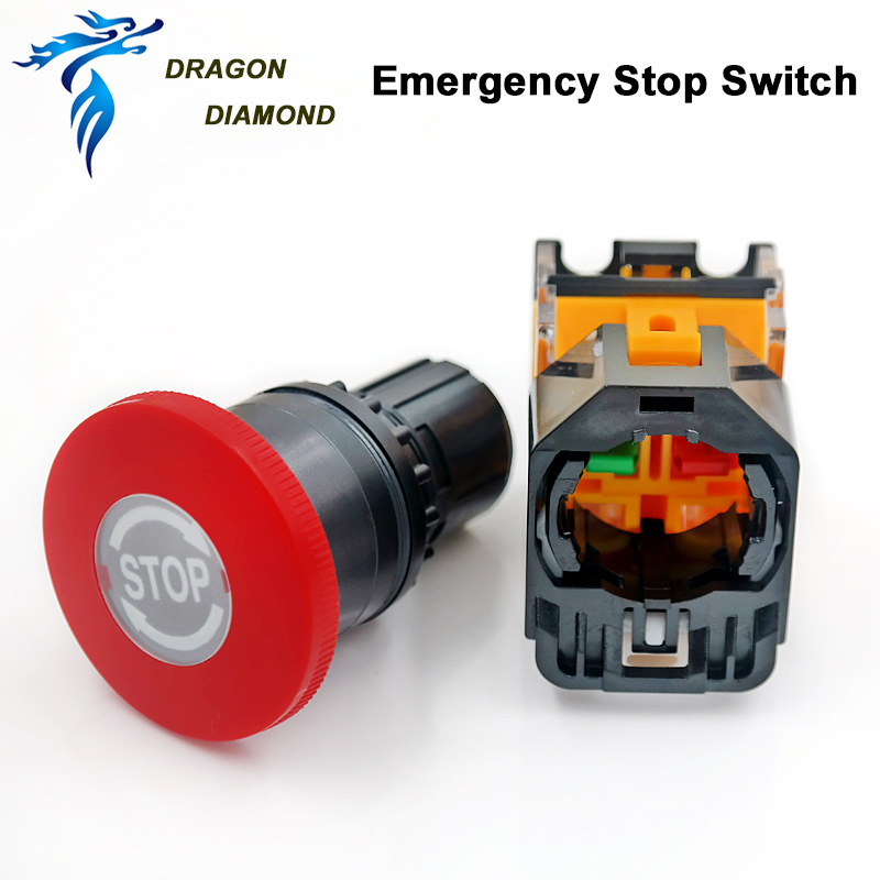 Emergency Stop Push Button Swicth LZ38-11ZS For CO2 Laser Engraving & Cutting Machine
