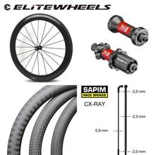 ハイエンドチューブレスカーボン自転車ホイール 38 ミリメートル 50 ミリメートル 60 ミリメートル 88 ミリメートル深さ 700cロードバイクホイールセットDT240S /DT350Sハブsapim cx線スポーク