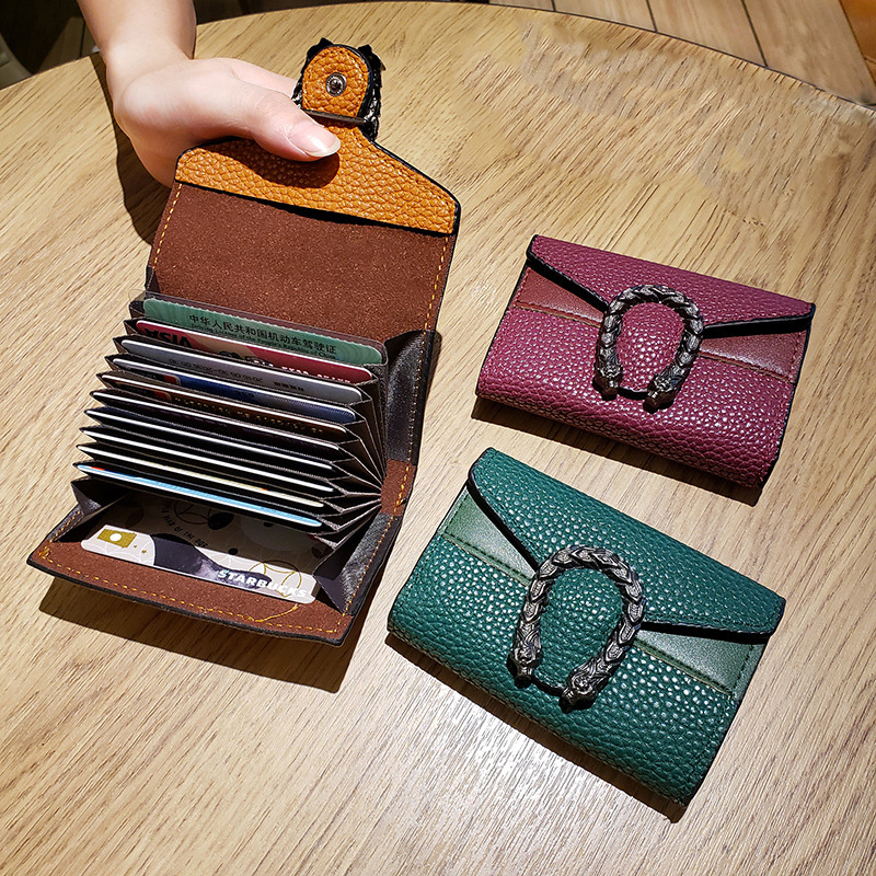 New Card Holder Women Wallets Purses ID Businiss Credit Cards Holders Case Pockets Vintage Fashion Luxury Design Female