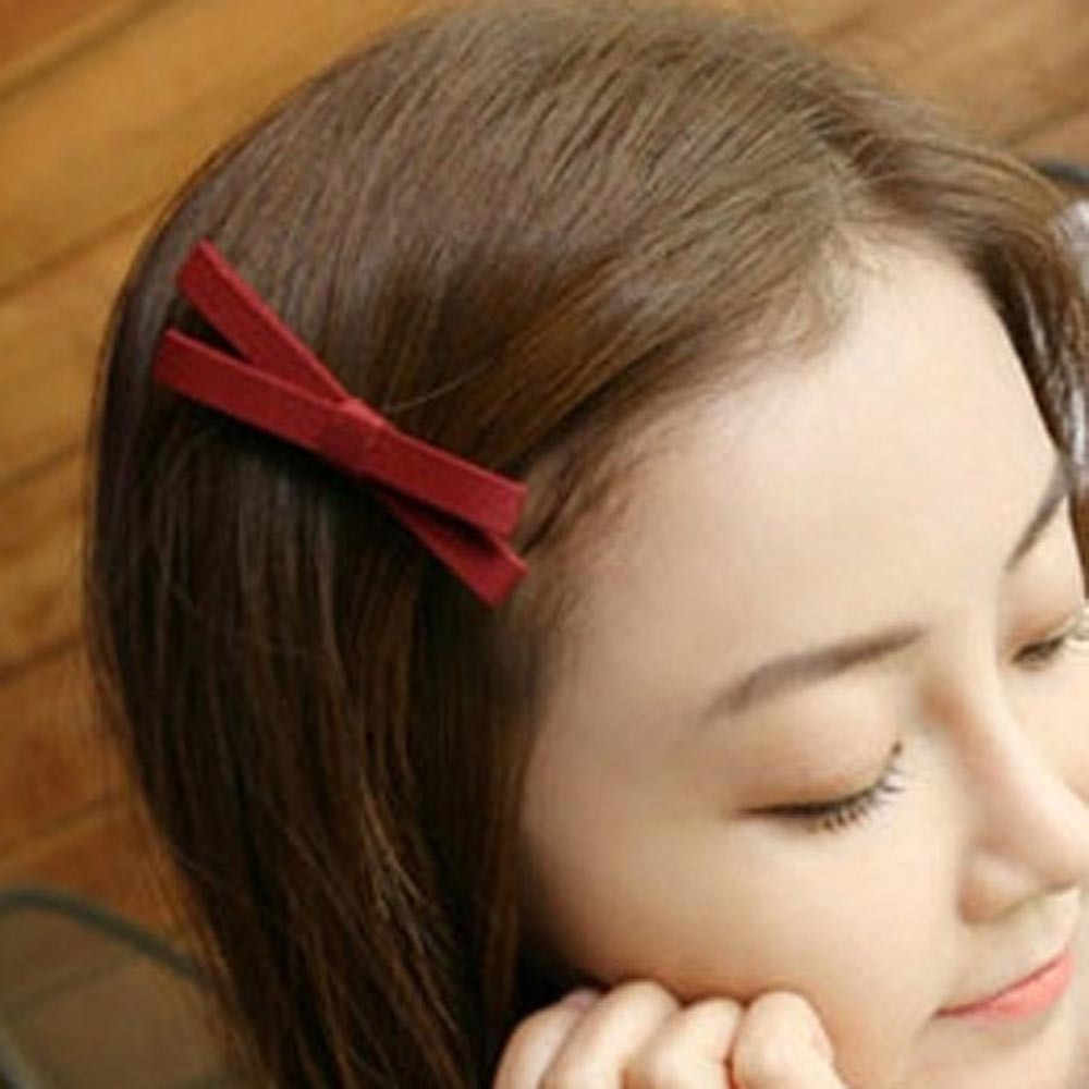 1 PC Bowknot Hairpin เด็กผู้หญิง Barrettes Big Bowknot VINTAGE Headwear ตกแต่ง Scrunchie Turban Headdress Claw