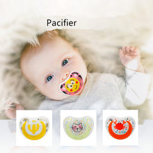 Cactus Cat Crab Baby Pacifier Safe Newborn Infant Toddlers Baby Pacifier Silicone Nipple Soother Anti-dust Lid Infant Teether(China)