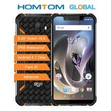 HOMTOM ZOJI Z33 wytrzymały telefon komórkowy MT6739 1.3GHZ Quard Core 3GB 32GB 4600mAh 5.85 Cal Dual sim Android 8.1 OTA OTG odblokowanie twarzą
