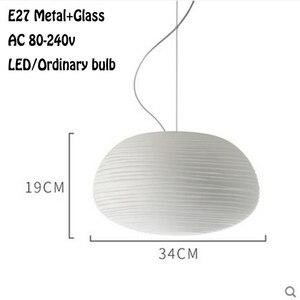 Image 3 - Скандинавский молочно белый подвесной светильник simlpe E27, стеклянный одноголовый светильник для гостиной, столовой, спальни, прикроватной тумбочки, ресторана, кафе бара