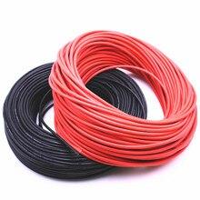 Haute qualité câble souple 10 mètres extra doux en silicone haute température fil 10 11 12 13 14 15 16 17 18 20 22 24 26 AWG
