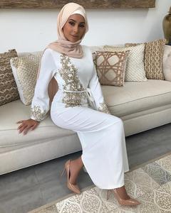 Image 5 - אישה העבאיה דובאי מוסלמי חיג אב שמלת Abayas נשים קפטן מרוקאי קפטן תורכי שמלות תפילה האסלאמי ביגוד Robe Femme