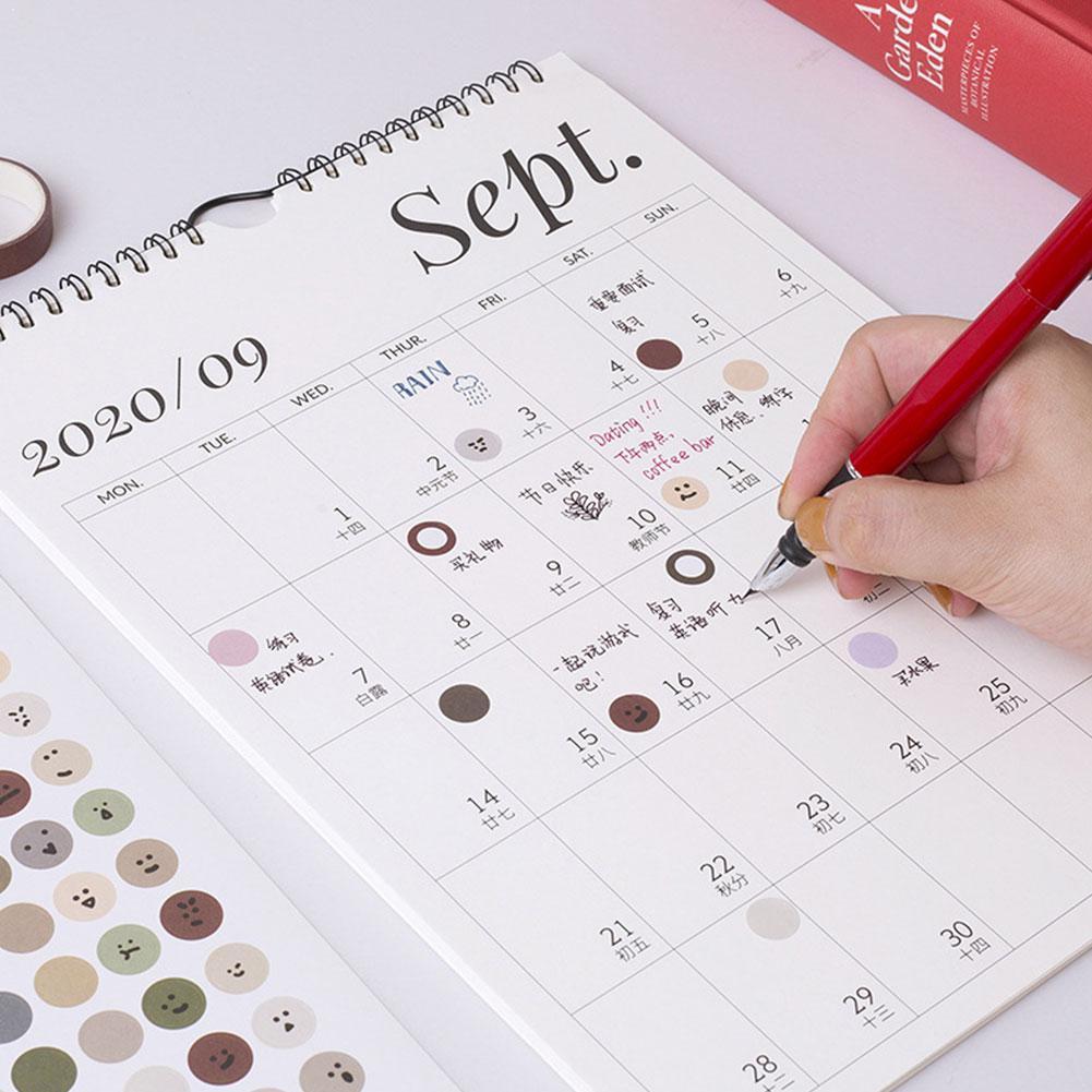 2021 calendário de parede simples semanal planejador mensal agenda calendário planejador de parede agenda agenda diário organizador pendurado escritório decoração para casa