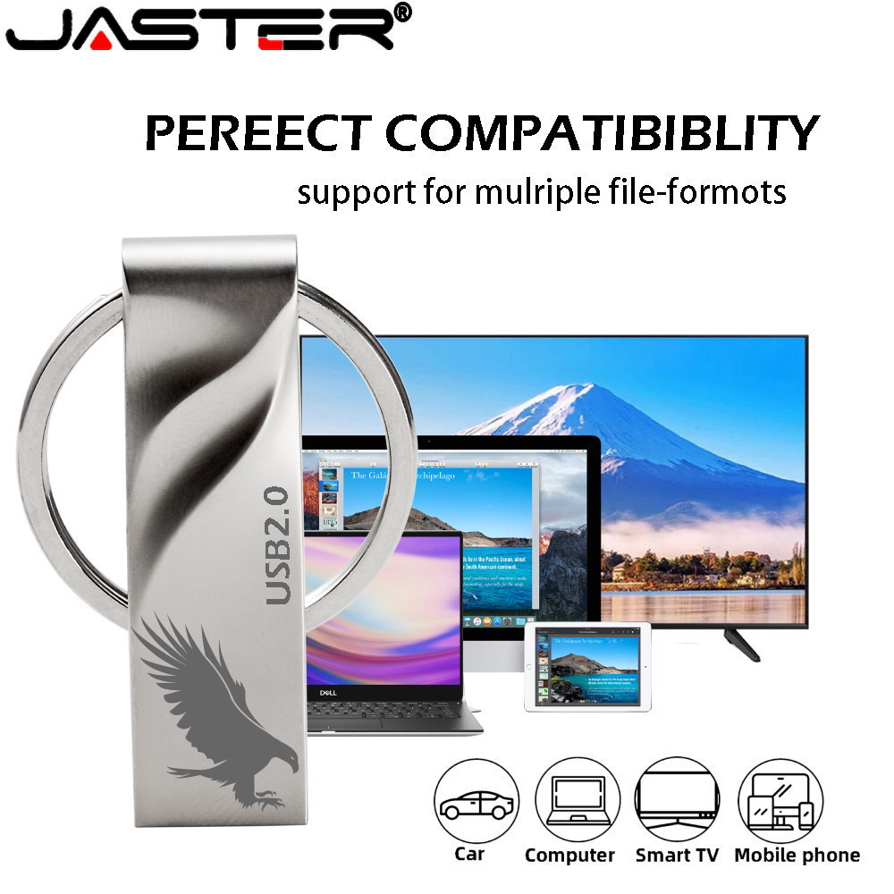 JASTER U Disk Key Memory Stick Usb 2.0 Flash Drive 128gb Pendrive 64GB 16GB 8GB 4GB 32GB Usb Stick  Mini Tailor-made (Free Logo)