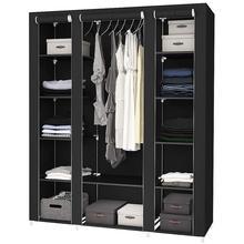 Szybka dostawa 68 #8222 nowoczesna prosta szafa tkanina składana tkanina szafka do przechowywania DIY montaż łatwa instalacja szafa szafa HWC tanie tanio CN (pochodzenie) Wardrobe Typ nadwozia Składany stojak Odzież 5-warstwowy Salon STAINLESS STEEL Ekologiczne Portable Closet Wardrobe Clothes Storage
