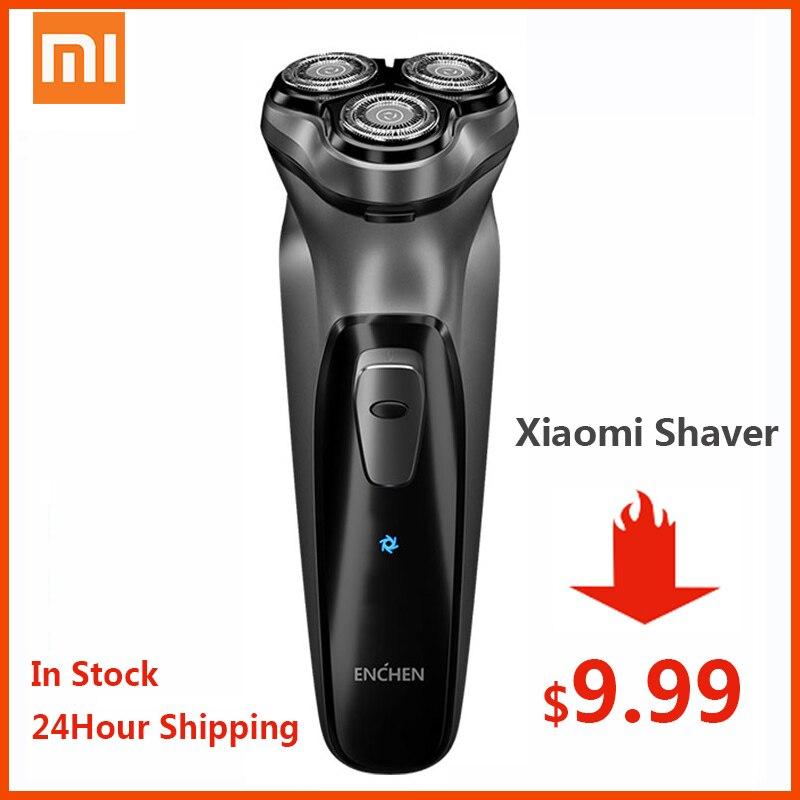 XIAOMI Original Face Shaver Enchen BlackStone 3D Electric Shaver, Men Washable Type-C USB Rechargeable Shaving Beard Machine