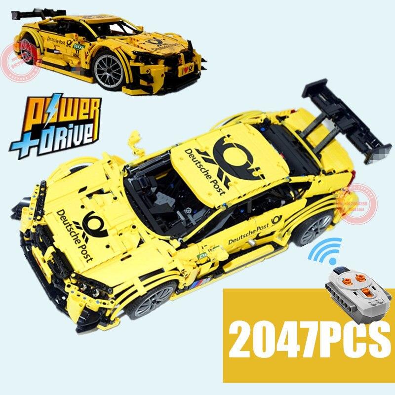 Nuevo MOC técnica M4 coches deportivos vehículo RC Motor de función MOC-4142 bloque de construcción de ladrillos de juguete chico regalos