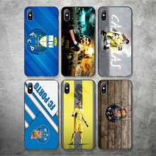 Phone Case For FC Porto iphone Case DIY Shell For Black Soft TPU Porto Case Cover For iPhone X XR XS MAX 7 8 7plus 6 6S 5S SE 5