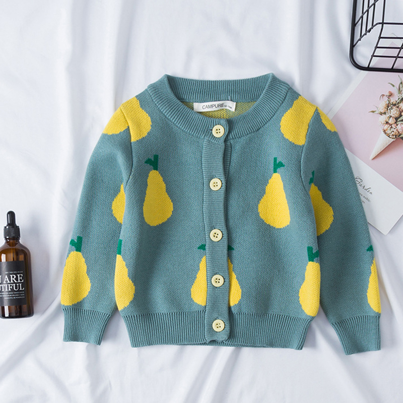 New Girl Cartoon Sweaters Baby Cotton Knit Cardigan Sweater Kids Long Sleeve Autumn Children Clothes Fashion Boy Girl Outer Wear 6