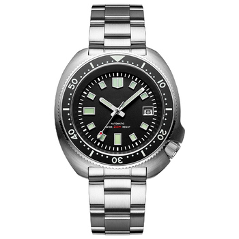 1970 Abalone 200m Diver Watch Sapphire crystal calendar NH35 Automatic Mechanical Steel diving Men's watch - Steel no logo