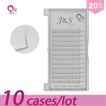 10trays volume W 3D Eyelash Extension 0.10 Individual Eye Lashes Professional Makeup Tools Thick Long Lash From Korea