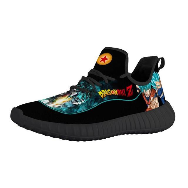 Zapatillas deportivas transpirables con diseño personalizado para hombre, zapatos masculinos para correr con diseño de dibujos animados de Anime, liviano para correr, Vegeta 1