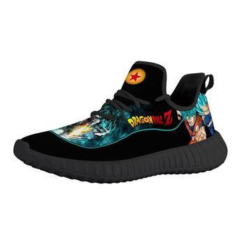 Pattern Custom Men Running Shoes Cartoon Anime Dragon Ball Goku Jogging Lightweight Sports Breathable Vegeta
