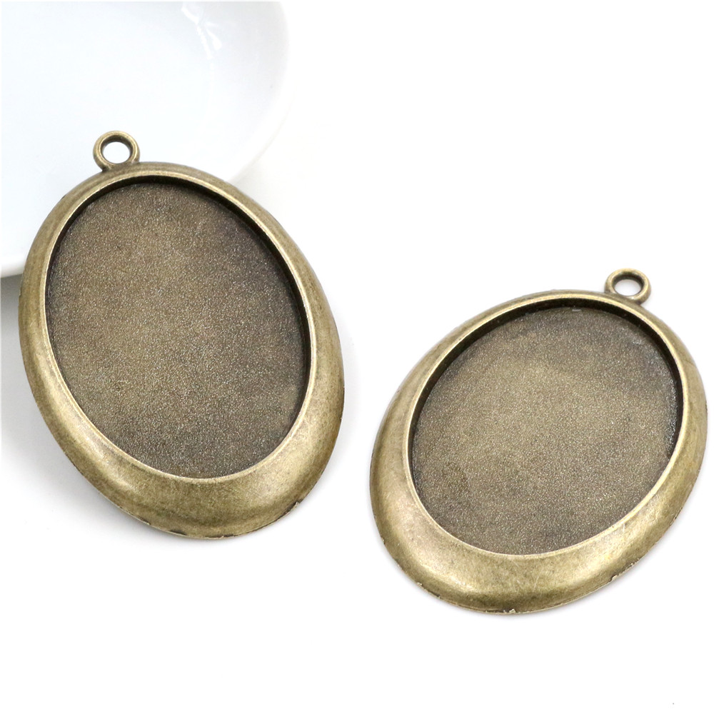 New Fashion  5pcs 30x40mm Inner Size Antique Bronze Classic Style Cabochon Base Setting Charms Pendant (B1-26)