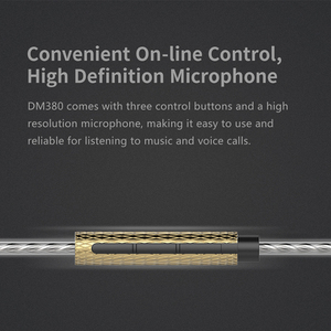 Image 4 - DUNU DM380 Linearlayout Triple Titanium Diafragma Driver In Ear Oortelefoon HiFi Actieve Crossover met MIC/3 knoppen Gemakkelijk Gedreven