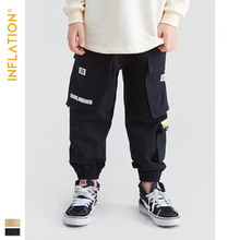 INFLATION KIDS Jogger Pants Kids Streetwear Jogger Pants Boys 5T - 15T Streetwear Style Boy Crago Pants Loose Boy Legging 19906A цена