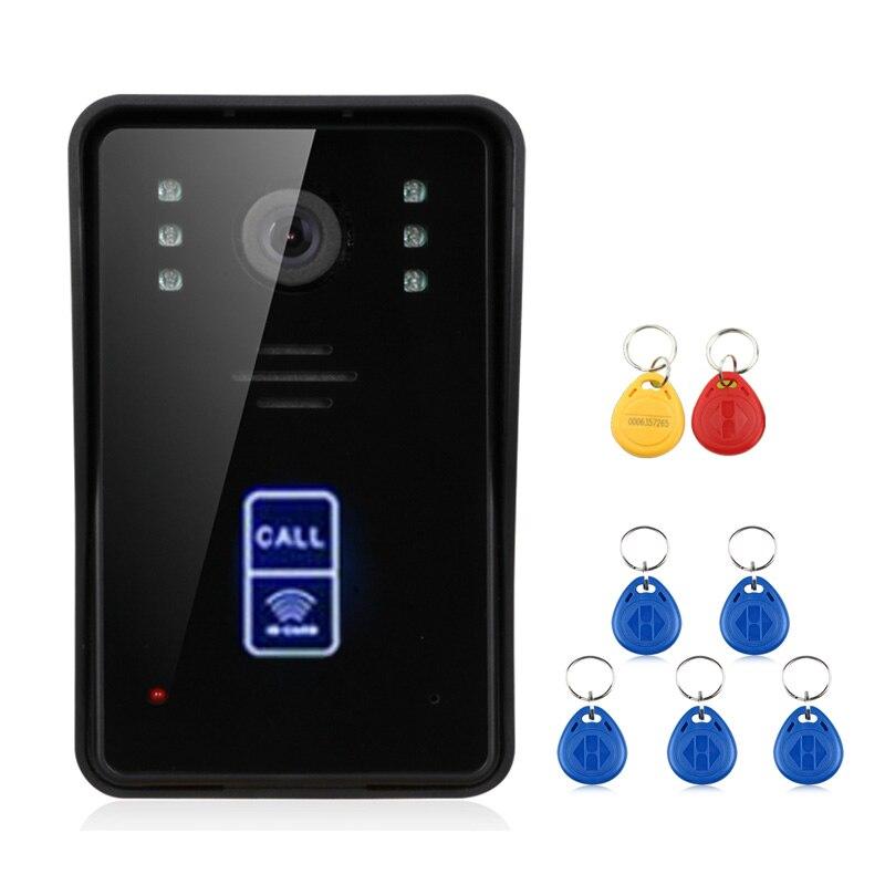 2 monitore 7inch Drahtlose Wifi RFID Video Tür Telefon Türklingel Intercom Entry System mit Wired IR CUT 1080P Verdrahtete kamera - 4