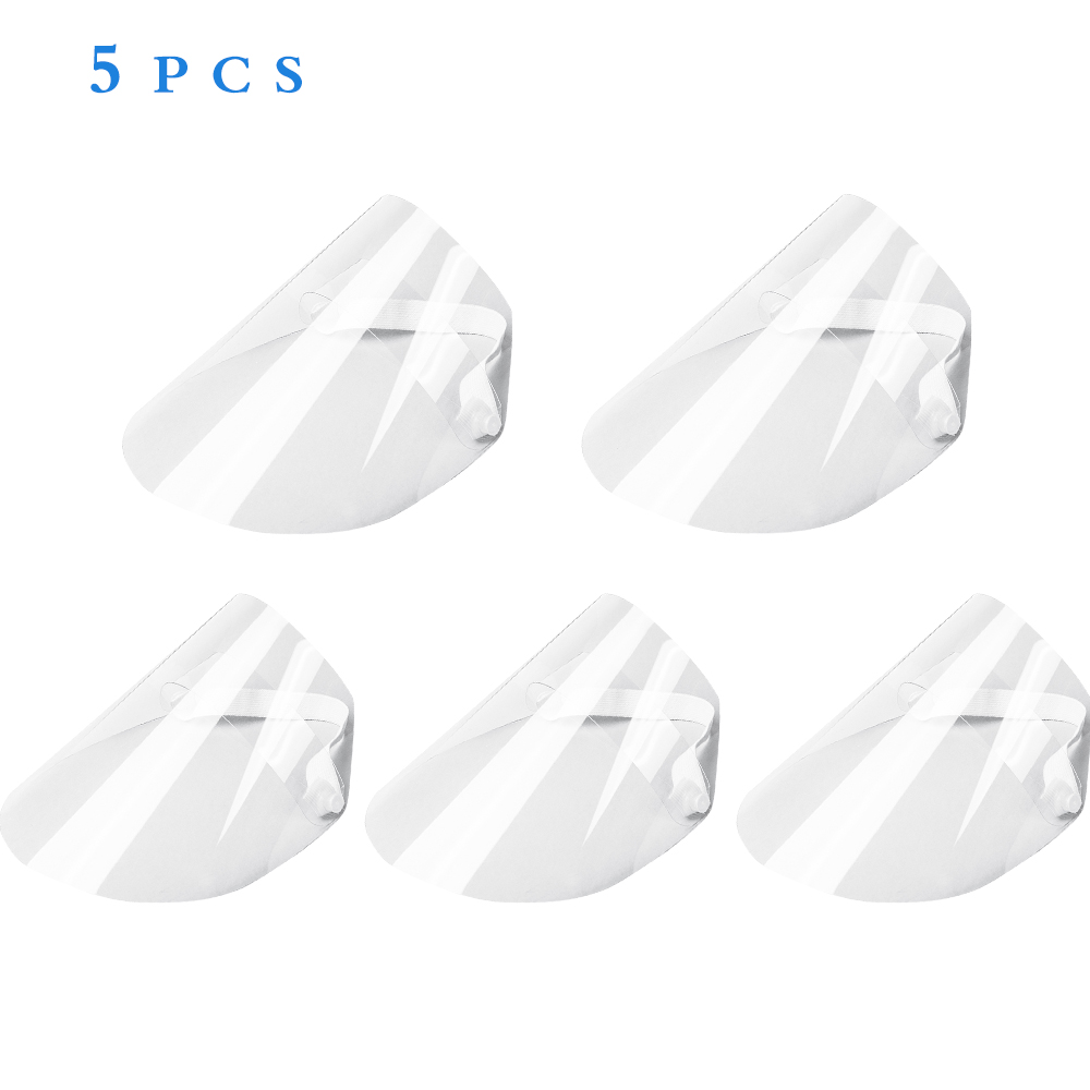 10-50pcs Clear Face Cover and Full-Face Clear Visor Mask in Flip-Up Design for Virus Protection 1