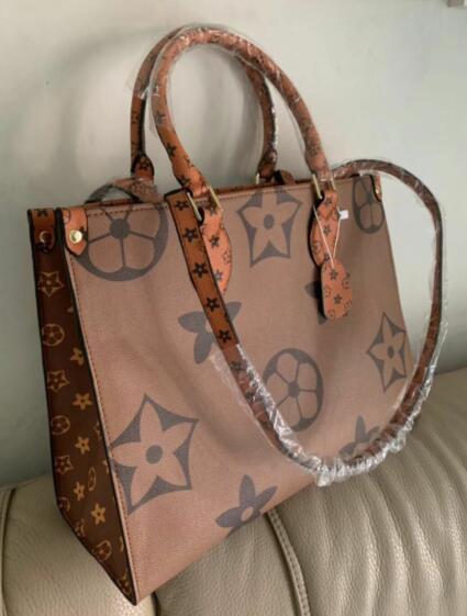 Vente chaude!!! 2019 nouveau mode femmes sac à main en cuir véritable ONTHEGO sac de haute qualité jamais sacs livraison gratuite