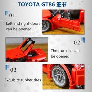 Image 5 - حقيقي إذن تكنيك الإبداعية MOC سيارة الأولي D تويوتا AE86 الكرتون موتور اللبنات الطوب متوافق اللعب