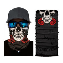 Шарфы на Хэллоуин с черепом для вечерние женская маска черная