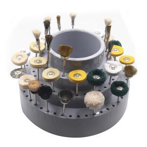 Image 2 - מקצועי מסתובב עגול צורת מקדח אחסון מקרה טחינת כלי טיפ Stand ארגונית תכשיטי ביצוע כלי עבור Jeweler