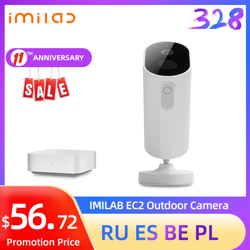 IMILAB EC2 Wireless Outdoor Security Camera 1080P HD Rechargeable Battery WiFi Camera Indoor/Outdoor Surveillance Home Camera