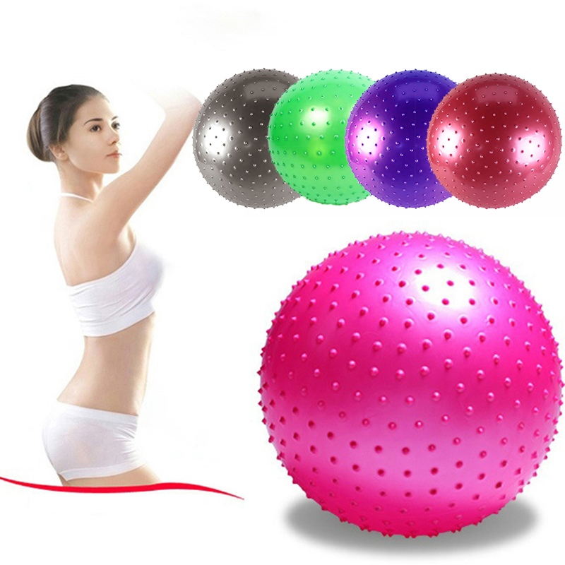 Sports Yoga Ball Point Fitness Gym Balance Fitball Anti-burst Thickened Massage Ball Pilates Workout Physical Fitness Exercise image