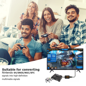 Image 5 - HDMI compatible Converter For NS Switch Adaptor Hub 4K HD Transfer For Nintendo 64 Switch Game Console Splitter Game Accessories
