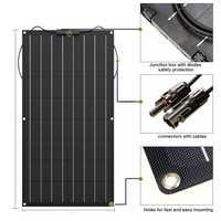 Panel Solar Flexible monocristalino para cargador de batería, 300w, 200w, 100w, 400w, 18V, 12V, 24V, Kit de sistema doméstico de 1000w