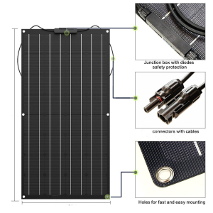solar panel 300w 200w 100w 400w 18V 24V flexible solar panel For 12V battery charger Monocrystalline cell 1000w home system kit(China)
