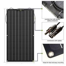 Panel słoneczny 300w 200w 100w 400w 18V 24V elastyczny panel słoneczny do ładowarki 12V monokrystaliczne ogniwo 1000w zestaw do organizacji domowej tanie tanio EPSOLAR 1050MM*540MM*2 5MM BPS 32-100 Monokryształów krzemu flexible solar panel Monocrystalline Silicon solar panel 12v solar battery