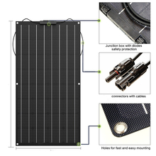 Solar Panel 300w 200w 100w 400w ETFE Flexible Solar Panel Monocrystalline Cell For 12V 24V Battery Charger 1000w Home System Kit