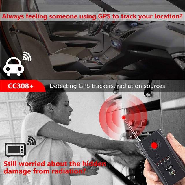 Mini Anti Spy Hidden Camera Detector CC308+ Anti Candid Espia Camera Wifi RF Laser Audio Signal Bug Spy Device GSM Device Finder 2