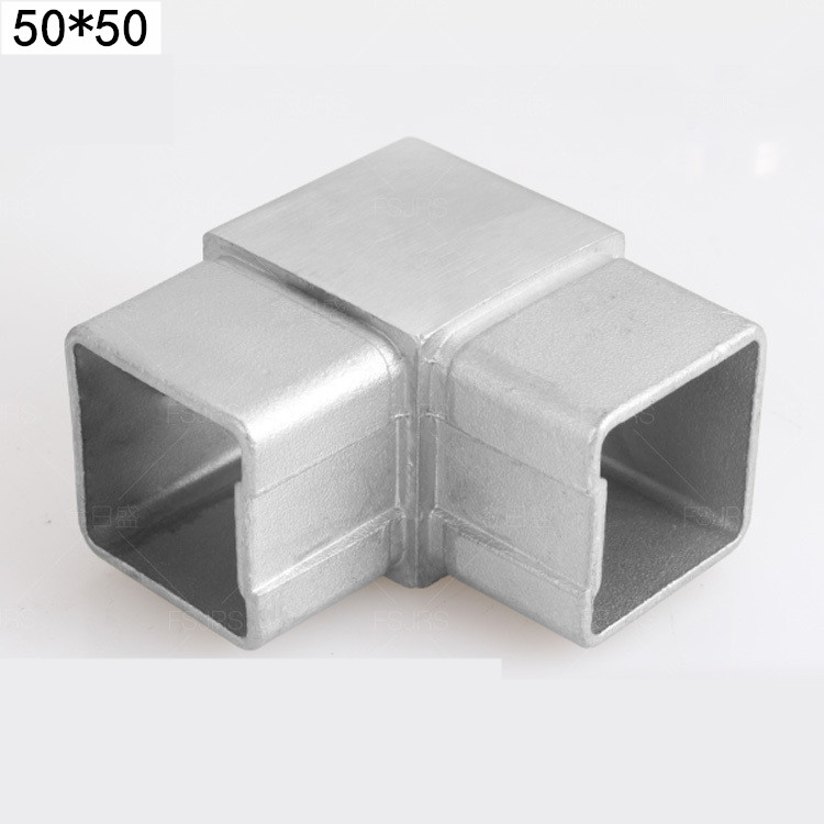 Guardrail accessories 304 stainless steel 201 staircase handrail glass railing upper wall flange universal joint installation