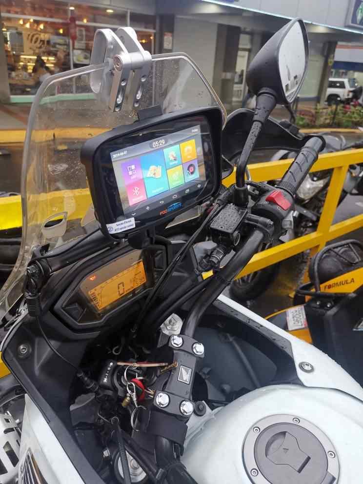 Fodsports 5 بوصة نظام تحديد المواقع العالمي للدراجات البخارية الملاحة مقاوم للماء أندرويد واي فاي بلوتوث لتحديد المواقع الملاح سيارة موتو لتحديد المواقع IPX7 1G RAM 16G ROM