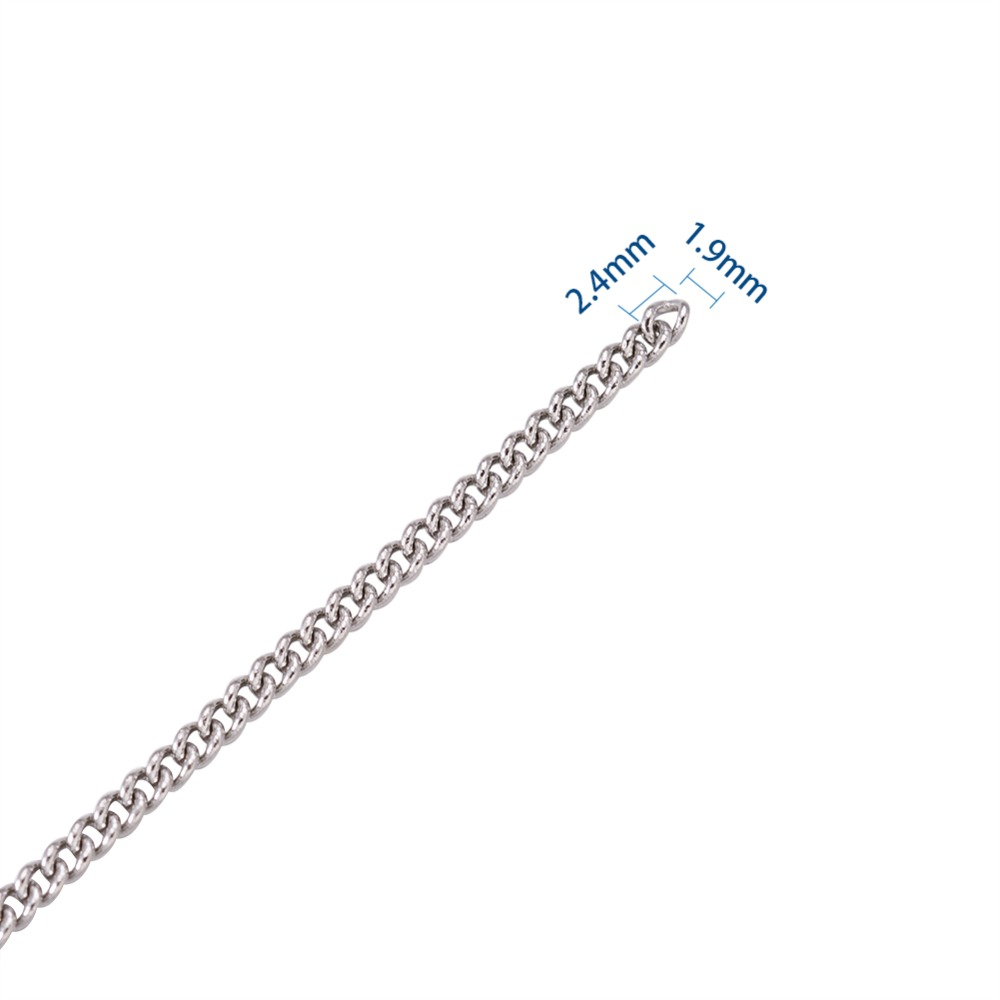 0126 Stainless Steel Curb Chain 10m//roll 2.4x1.9x0.5 mm Bracelet Necklace Chain